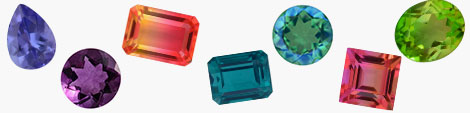 Find colorful loose gemstones in a variety of shapes.