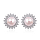 Akoya pearl earrings.
