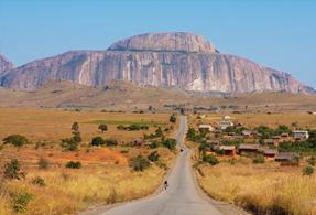 Demantoid garnet mine from Madagascar landscape.r