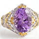 Lusaka amethyst ring in yellow gold and sterling silver.