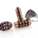View Four Anthill garnet ring set at Shop LC.