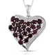 Exclusive heart shape anthill garnet pendant.