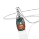 Aqua Terra Costa Quartz pendant with chain.
