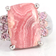 Argentina rhodochrosite ring in sterling silver for women.