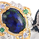 Aurora azurite rings for women.