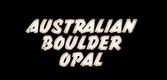 Australian Boulder Opal Logo