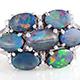 Australian boulder opal floral ring.