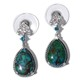 Australian chrysocolla earrings.