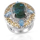 Australian chrysoocolla ring for women.