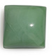 Australian chrysoprase cushion shape gemstone.