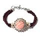 Australian pink opal beads bracelet.