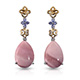 Australian pink opal earrings.