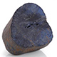 Australian vivianite rough cut gemstone.