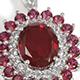 Blazing Red Quartz pendant with chain.