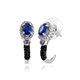 Blue spinel J-hoop earrings for women.