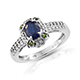 Blue spinel ring in sterling silver.