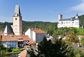 Moldau River Valley Czech Republic.