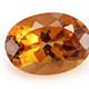 Brazilian citrine oval shape gemstone.