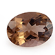 Brazilian smoky quartz oval shape gemstone.