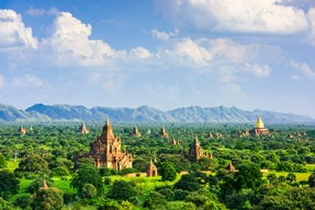 Myanmar landscape.