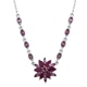 Burmese ruby floral necklace.