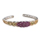 Ornate Burmese ruby cuff bangle.