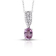 Burmese spinel pendant with chain for women.