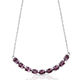 Burmese spinel necklace in sterling silver.