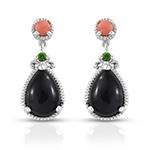 Black Jade Earrings.