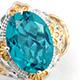 Capri Blue Quartz ring for women.