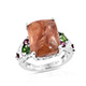 Caramel opal ring.