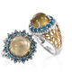 Cat's eye apatite set of two rings.