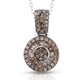 Champagne diamond pendant with chain.