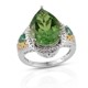 Chartreuse Quartz ring for women.