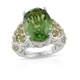 Chartreuse Quartz ring in sterling silver.