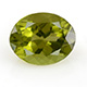 Chinese Hebei peridot oval shape gemstone.