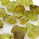Chinese Hebei peridot rough cut gemstones.
