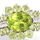 Chinese Hebei peridot ring.