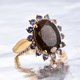 Chocolate sapphire ring at Shop LC.