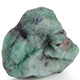 Emerald quartz rough stone.