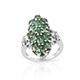 Emeraldine apatite cluster ring.