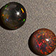 Ethiopian Sable opal round shaped gemstones.