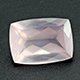 Galilea rose quartz faceted gemstone.