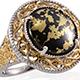 Goldenite ring for women.