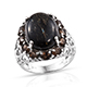 Elegant Greenland nuummite ring at Shop LC.