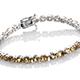 Heliodor bracelet in sterling silver.