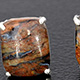 Hunan pietersite stud earrings.