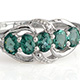 Indian Ocean apatite ring for women.