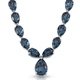 Indicolite Quartz necklace in sterling silver.