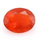 Jalisco fire opal oval shape gemstone.